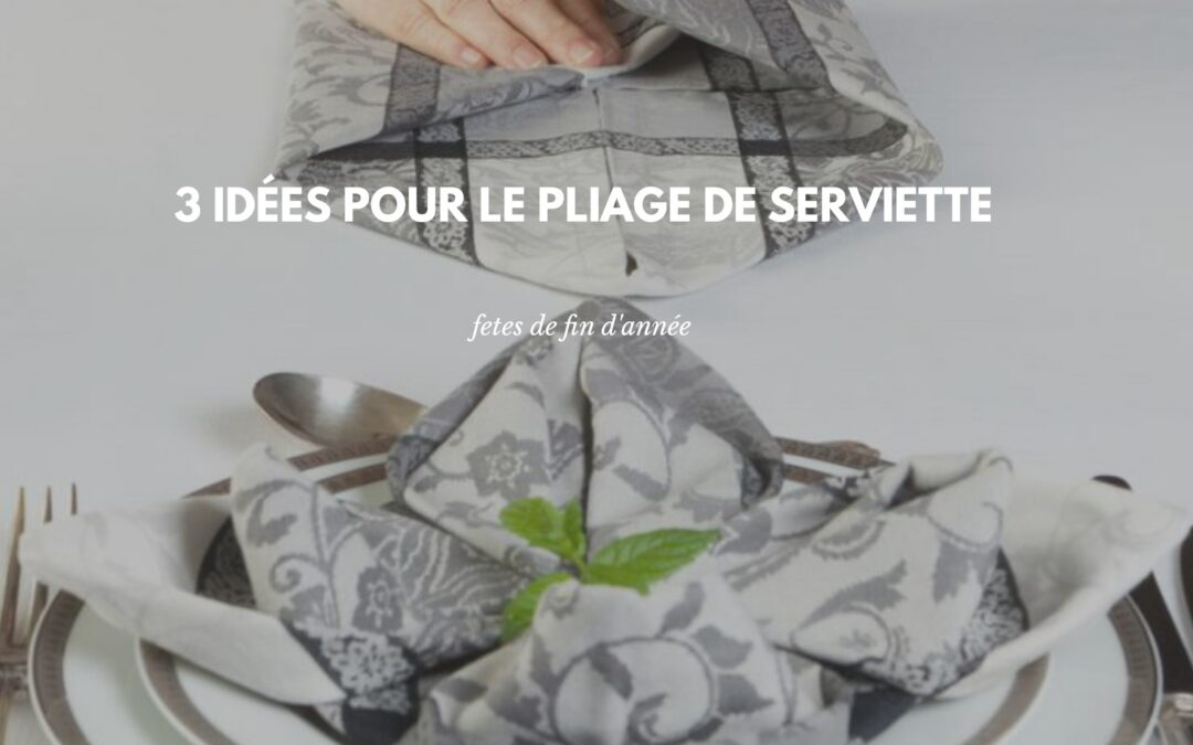 decoration pliage serviette de table