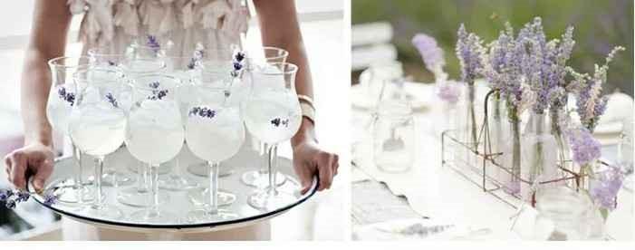 verre et fleur mariage